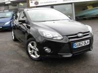 USED 2012 62 FORD FOCUS 1.6 ZETEC 5d 104 BHP One private owner Full Ford History. Bluetooth. Air conditioning. DAB radio. Heated Screen