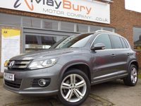 USED 2015 15 VOLKSWAGEN TIGUAN 2.0 R LINE TDI BLUEMOTION TECH 4MOTION DSG 5d AUTO 139 BHP ONE OWNER EXAMPLE WITH FULL SERVICE HISTORY (7 STAMPS)