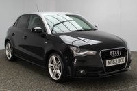 USED 2013 62 AUDI A1 1.6 SPORTBACK TDI S LINE 5DR 105 BHP FREE ROAD TAX SERVICE HISTORY + FREE 12 MONTHS ROAD TAX + HALF LEATHER SEATS + BLUETOOTH + MULTI FUNCTION WHEEL + AIR CONDITIONING + XENON HEADLIGHTS + DAB RADIO + PRIVACY GLASS + ELECTRIC WINDOWS + ELECTRIC/HEATED MIRRORS + CONTRAST ROOF + 17 INCH ALLOY WHEELS
