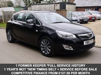 2010 VAUXHALL ASTRA 2.0 CDTI 5 Door Hatchback In Black With Full Black Leather £5495.00