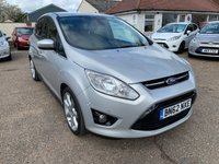 USED 2012 62 FORD C-MAX 1.6 TITANIUM 5d 123 BHP AUTO PARK / PRIVACY GLASS / UPGRADE ALLOYS / VOICE COMM / BLUETOOTH / USB / CRUISE CONTROL /  FULL MAIN DEALER SERVICE HISTORY