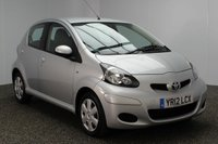 USED 2012 12 TOYOTA AYGO 1.0 VVT-I ICE 5DR 68 BHP 1 OWNER £20 ROAD TAX SERVICE HISTORY + £20 12 MONTHS ROAD TAX + HALF LEATHER SEATS + AIR CONDITIONING + RADIO/CD/AUX/PM3 + ELECTRIC WINDOWS