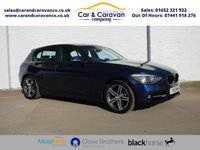 USED 2012 12 BMW 1 SERIES 2.0 118D SPORT 5d 141 BHP One Owner BMW History Air Con Buy Now, Pay Later Finance!