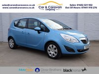 USED 2011 11 VAUXHALL MERIVA 1.7 EXCLUSIV CDTI 5d 128 BHP Vauxhall History A/C + Sensors Buy Now, Pay Later Finance!