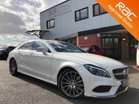 USED 2016 66 MERCEDES-BENZ CLS CLASS 3.0 CLS350 D AMG LINE PREMIUM 4d AUTO 255 BHP COMMAND NAV | BLUETOOTH | CRUISE CONTROL | ELECTRIC MEMORY SEATS | LUMBAR SUPPORT | DAB | HEATED SEATS | ELECTRIC STEERING COLUMN