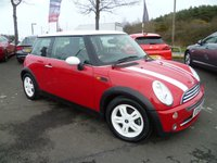 USED 2004 54 MINI HATCH COOPER 1.6 COOPER 3d 114 BHP PX CLEARANCE VEHICLE,  SERVICE HISTORY, RADIO/CD. ELECTRIC WINDOWS, HALF LEATHER TRIM, REMOTE LOCKING