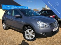 USED 2008 08 NISSAN QASHQAI 1.6 ACENTA 5d 113 BHP Low Mileage Petrol Example in Blue