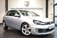 """USED 2012 12 VOLKSWAGEN GOLF 2.0 GTI DSG 5DR AUTO 210 BHP full service history *NO ADMIN FEES* FINISHED IN STUNNING ICE METALLIC SILVER WITH FULL BLACK LEATHER INTERIOR + FULL SERVICE HISTORY + SATELLITE NAVIGATION + HEATED SPORT SEATS + AUXILIARY PORT + AIR CONDITIONING + HEATED MIRRORS + 17"""" ALLOY WHEELS"""