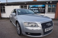 "USED 2007 57 AUDI A8 3.0 TDI QUATTRO SPORT 4d AUTO 229 BHP 7 STAMPS-LOADED 7 Stamps, 19"" Alloys, Sat Nav, Leather Heated Seats"
