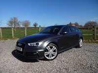 USED 2016 16 AUDI A3 1.4 TFSI S LINE NAV 5d 124 BHP ONLY 1 OWNER FROM NEW WITH FULL AUDI SERVICE HISTORY