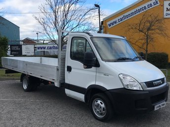 2012 IVECO DAILY 2.3 35C13 XLWB DROPSIDE 17ft ALLOY BODY LOW MILEAGE DRW £14950.00