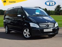 USED 2012 62 MERCEDES-BENZ VIANO 3.0 122 CDI BLUEEFFICENCY AMBIENTE 5d AUTO 224 BHP 1 keeper, low mileage 2012 Mercedes VITANO 3.0 CDI AMBIENTE (EXTRA LONG) AUTO 8 SEATER in metallic black with a full leather interior. MASSIVE SPECIFICATION INCLUDES 2 REAR DVD SCREENS (2 remotes and 4 headphones), HALF PANORAMIC SUNROOF, PARKING SENSORS, CLIMATE CONTROL, SAT NAV, ALLOY WHEELS AND A COOLER BOX.