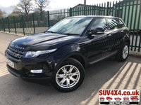USED 2013 63 LAND ROVER RANGE ROVER EVOQUE 2.2 SD4 PURE TECH 5d 190 BHP 4WD PAN ROOF SAT NAV LEATHER PDC 4WD. PANORAMIC SUNROOF. SATELLITE NAVIGATION. STUNNING BLACK MET WITH FULL BLACK LEATHER TRIM. ELECTRIC HEATED SEATS. CRUISE CONTROL. 18 INCH ALLOYS. COLOUR CODED TRIMS. PARKING SENSORS. BLUETOOTH PREP. CLIMATE CONTROL INCLUDING AIR CON. MULTIMEDIA SYSTEM. R/CD/DAB RADIO. 6 SPEED MANUAL. MFSW. MOT 12/19. ONE PREV OWNER. SERVICE HISTORY. PRESTIGE SUV CENTRE - LS24 8EJ. TEL 01937 849492 OPTION 1