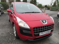 USED 2011 PEUGEOT 3008 1.6 ACTIVE HDI 5d 112 BHP FULL SERVICE HISTORY EXCELLENT MPG