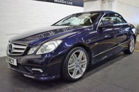 USED 2011 11 MERCEDES-BENZ E CLASS 3.0 E350 CDI BLUEEFFICIENCY SPORT 2d AUTO 231 BHP CONVERTIBLE STUNNING COLOUR COMBO - ONE PREVIOUS KEEPER - 5 STAMPS TO 79K - NAV - LEATHER - HEATED SEATS - AIRSCARF - AMG ALLOY WHEELS