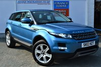 USED 2012 12 LAND ROVER RANGE ROVER EVOQUE 2.2 SD4 PURE TECH 5d Family 4x4 SUV Very Rare Manual in Gorgeous Mauritus Blue Metallic and Great High Spec inc Sat Nav Heated Leather Seats DAB Radio Panoramic Glass Sunroof Parking Sensors and much more 5 SERVICE STAMPS