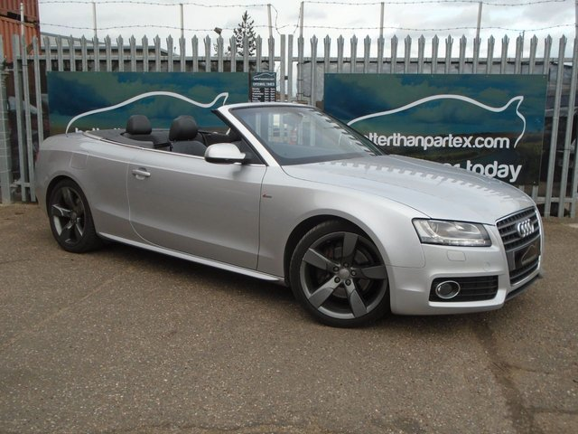 2009 09 AUDI A5 2.0 TFSI S LINE 2d 208 BHP CONVERTIBLE SAT NAV LEATHER
