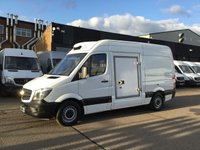 USED 2016 66 MERCEDES-BENZ SPRINTER 2.1 313CDI MWB HIGH ROOF FRIDGE FREEZER. STANDBY. ULEZ. FRIDGE FREEZER. ULEZ LONDON. FINANCE. MERC WARRANTY. FINANCE.