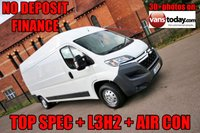 USED 2016 16 CITROEN RELAY 2.2 35 L3H2 ENTERPRISE HDI 129 BHP TOP SPEC  NO DEPOSIT FINANCE + AIRCON + BLUETOOTH