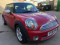 USED 2008 08 MINI HATCH COOPER 1.6 COOPER 3d AUTO 118 BHP 1 PREVIOUS KEEPER *  FULL YEAR MOT *  ALLOY WHEELS *  FULL SERVICE RECORD *
