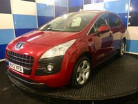 """USED 2013 13 PEUGEOT 3008 1.6 E-HDI ACTIVE 5d AUTO 115 BHP A stunning example of this very highly regarded diesel automatic crossover finished in unmarked red pearl paintwork enhanced with 17"""" 5 spoke alloy wheels,this car comes with paddle shift gearchange option,onboard computer,cruise control and speed limiter,cd radio with aux imputs,autolights and wipers,front and rear fog light plus bluetooth phone conectivity ,rear parking sensors plus all the usual equipment. This car returns a very impressive 67.3 combined mpg and road tax of only £30 a year."""