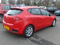 USED 2014 14 KIA CEED 1.4 VR7 5d 98 BHP BALANCE OF MANUFACTURERS SEVEN YEAR WARRANTY