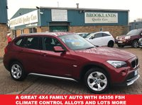 USED 2011 11 BMW X1 2.0 XDRIVE20D SE Vermillion Red Metallic AUTO 174 BHP A Great 4x4 Family Auto With 84356 FSH Climate Control Alloys and lots more