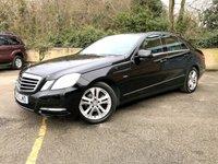 2012 MERCEDES-BENZ E-CLASS 2.1 E220 CDI BLUEEFFICIENCY EXECUTIVE SE 4d AUTO 170 BHP  £9790.00