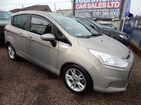 USED 2015 15 FORD B-MAX 1.6 TITANIUM X 5d AUTO 104 BHP FULL SERVICE HISTORY, GREAT VALUE, 1/2 LEATHER, ALLOYS,BLUETOOTH, PANROOF