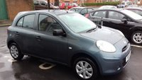 USED 2011 11 NISSAN MICRA 1.2 VISIA 5d AUTO 79 BHP AUTOMATIC WITH ONLY 17743 MILES FROM NEW, CHEAP TO RUN , LOW CO2 EMISSIONS. GOOD FUEL ECONOMY AND EXCELLENT SPEC INCLUDING AUXILIARY INPUT, BLUETOOTH