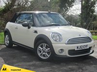 USED 2012 12 MINI CONVERTIBLE 1.6 ONE 2d  ***READY FOR SUMMER***