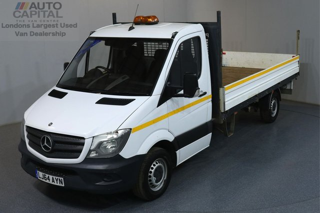 2014 64 MERCEDES-BENZ SPRINTER 2.1 313 CDI 129 BHP LWB DROPSIDE ONE OWNER, FULL SERVICE HISTORY