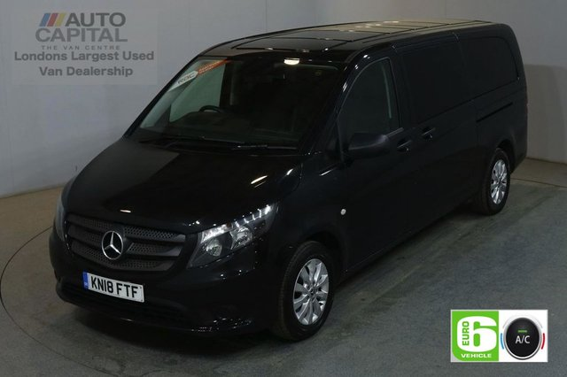 2018 18 MERCEDES-BENZ VITO 2.1 114 BLUETEC TOURER SELECT 136 BHP EXTRA LWB EURO 6 AIR CON 9 SEATER £24,990+VAT EURO 6
