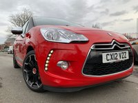 USED 2012 12 CITROEN DS3 1.6 E-HDI AIRDREAM DSPORT PLUS 3d 111 BHP 17ALLOYS+PARK+FSH+LEATHER+