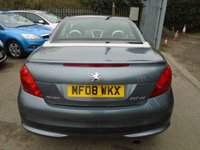 USED 2008 08 PEUGEOT 207 1.6 SPORT COUPE CABRIOLET 2d 118 BHP