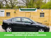 USED 2007 07 MAZDA 3 1.6 TS 4d 105 BHP Lovely looking example with very low miles, RAC Passport checked and miles verified,15 inch 5 spoke Alloy wheels, Electric windows, drives like a dream as you'd expect at under 40k, will have full service and new MOT prior to delivery.