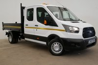 2017 FORD TRANSIT 2.0 350 L3 DOUBLE CAB TIPPER 130BHP (TWIN WHEELER 7 SEATS) £19990.00