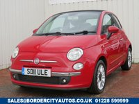 USED 2011 11 FIAT 500 0.9 CONVERTIBLE LOUNGE 3d 85 BHP ZERO ROAD TAX - CONVERTIBLE