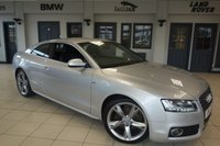 USED 2011 11 AUDI A5 2.0 TDI S LINE SPECIAL EDITION 2d 168 BHP FINISHED IN STUNNING SILVER WITH FULL BLACK LEATHER SEATS + EXCELLENT AUDI SERVICE HISTORY + SATELLITE NAVIGATION + XENON HEADLIGHTS + 19 INCH ALLOYS + HEATED FRONT SEATS + BANG AND OLUFSEN SOUND SYSTEM + DAB RADIO + REAR PARKING SENSORS + ELECTRIC TAILGATE