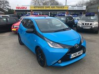 2015 TOYOTA AYGO 1.0 VVT-I X-CITE 2 5 DOORS 98 BHP IN BLUE WITH REVERSE CAMERA AND ONLY 20000 MILES. £6999.00