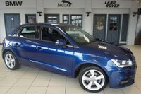 USED 2016 16 AUDI A1 1.6 SPORTBACK TDI SPORT 5d 114 BHP FINISHED IN STUNNING BLUE WITH ANTHRACITE GREY CLOTH SEATS + FULL SERVICE HISTORY + FREE ROAD TAX + BLUETOOTH + DAB RADIO + 1 OWNER + CRUISE CONTROL + AIR CONDITIONING + 16 INCH ALLOYS + REAR PARKING SENSORS