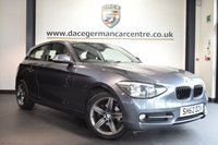 USED 2013 62 BMW 1 SERIES 1.6 116I SPORT 3DR 135 BHP *NO ADMIN FEES* FINISHED IN STUNNING MINERAL GREY METALLIC WITH ANTHRACITE UPHOLSTERY + BLUETOOTH + HEATED SPORT SEATS + FOG LIGHTS +  SPORT LINE + FRONT ARMREST + AIR CONDITIONING + AUXILIARY PORT + 17 INCH ALLOY WHEELS