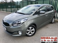 USED 2013 63 KIA CARENS 1.7 2 ECODYNAMICS CRDI 5d 114 BHP 7 SEATER AIR CON ALLOYS CRUISE PDC 7 SEATER. STUNNING SILVER MET WITH BLACK CLOTH TRIM. CRUISE CONTROL. 16 INCH ALLOYS. COLOUR CODED TRIMS. PRIVACY GLASS. PARKING SENSORS. BLUETOOTH PREP. CLIMATE CONTROL. R/CD PLAYER. 6 SPEED MANUAL. MFSW. MOT 03/20. SERVICE HISTORY. SUV & 4X4 CAR CENTRE LS23 7FR. TEL 01937 849492 OPTION 2
