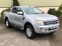 USED 2015 65 FORD RANGER 2.2 LIMITED 4X4 DCB TDCI 1d 148 BHP GREAT SPEC - LEATHER,  PARK SENSORS, ALLOYS, NEW TYRES, LINER AND TOWBAR, 3.5 TON TOWING!