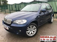 USED 2011 61 BMW X5 3.0 XDRIVE40D M SPORT 5d AUTO 302 BHP SAT NAV LEATHER  XDRIVE 4WD. SATELLITE NAVIGATION. STUNNING BLUE MET WITH FULL BLACK LEATHER M-SPORT TRIM. ELECTRIC MEMORY SEATS. CRUISE CONTROL. 19 INCH M-SPORT ALLOYS. COLOUR CODED TRIMS. PRIVACY GLASS. PARKING SENSORS. REVERSING CAMERA. BLUETOOTH PREP. DUAL CLIMATE CONTROL INCLUDING AIR CON. R/CD PLAYER. MFSW. MOT 06/20. ONE PREV OWNER. SUV4X4 USED SUV CENTRE LS23 7FR. TEL 01937 849492. OPTION 2