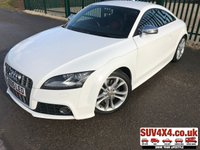 USED 2008 58 AUDI TT 2.0 TTS TFSI QUATTRO 3d 272 BHP 58 REG LEATHER FSH QUATTRO 4WD. 58 REG. STUNNING WHITE MET WITH FULL BLACK AND RED LEATHER SPORT TRIM. HEATED SEATS. 18 INCH ALLOYS. COLOUR CODED TRIMS. BLUETOOTH PREP. CLIMATE CONTROL. 6 SPEED MANUAL. R/CD PLAYER. MFSW. MOT 10/19. FULL SERVICE HISTORY. SUV & 4X4 CAR CENTRE LS23 7FR. TEL 01937 849492. OPTION 2
