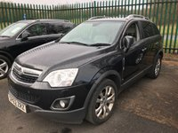 USED 2012 62 VAUXHALL ANTARA 2.2 SE NAV CDTI 4WD S/S 5d 161 BHP 4WD SAT NAV FSH 4WD. SATELLITE NAVIGATION. STOP/START. STUNNING BLACK MET WITH FULL BEIGE LEATHER TRIM. HEATED SEATS. CRUISE CONTROL. 19 INCH ALLOYS. COLOUR CODED TRIMS. PRIVACY GLASS. PARKING SENSORS. BLUETOOTH PREP. CLIMATE CONTROL WITH AIR CON. TRIP COMPUTER. R/CD PLAYER. MFSW. MOT 10/19. FULL SERVICE HISTORY. SUV & 4X4 CAR CENTRE LS23 7FR. TEL 01937 849492. OPTION 2