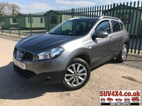 USED 2012 62 NISSAN QASHQAI 1.5 N-TEC PLUS DCI 5d 110 BHP SAT NAV PAN ROOF CRUISE FSH SATELLITE NAVIGATION. PANORAMIC SUNROOF. STUNNING GREY MET WITH BLACK CLOTH TRIM. CRUISE CONTROL. 18 INCH ALLOYS. COLOUR CODED TRIMS. PRIVACY GLASS. REVERSING CAMERA. BLUETOOTH PREP. CLIMATE CONTROL. TRIP COMPUTER. R/CD PLAYER. 6 SPEED MANUAL. MFSW. MOT 12/19. ONE PREV OWNER. FULL SERVICE HISTORY. SUV & 4X4 CAR CENTRE LS23 7FR. TEL 01937 849492. OPTION 2