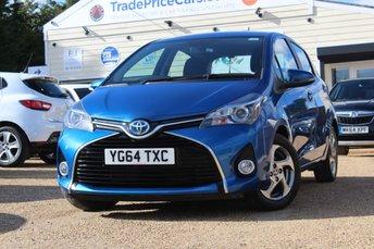 2014 TOYOTA YARIS 1.5 HYBRID ICON 5d AUTO 73 BHP £9995.00