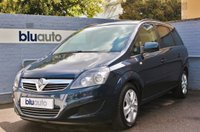 """USED 2011 11 VAUXHALL ZAFIRA 1.7 CDTi EXCLUSIV ECOFLEX 5d  Front & Rear Parking Sensors, Metallic Paintwork with 16"""" Alloys, Electric Windows & Mirrors, Air Conditioning, 7 Seater Capacity..."""